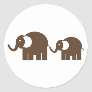 Brown Elephants Stickers