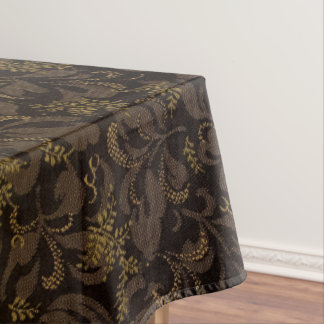 Brown Embroidery Look Tablecloth