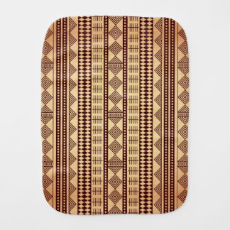 Brown ethnic texture burp cloth