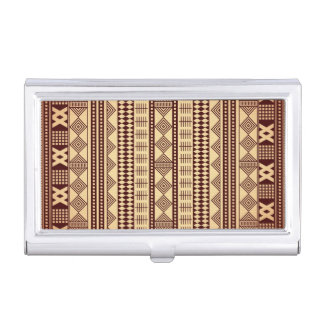 Brown ethnic texture business card holder
