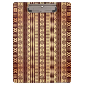 Brown ethnic texture clipboard