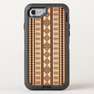Brown ethnic texture OtterBox defender iPhone 8/7 case