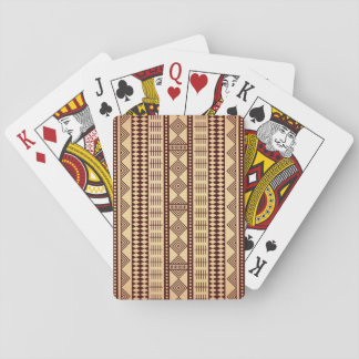 Brown ethnic texture playing cards