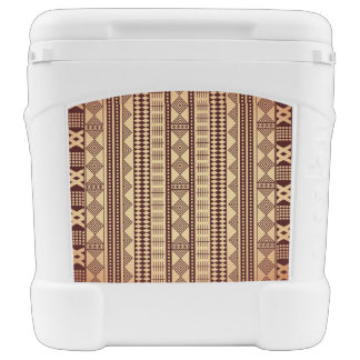 Brown ethnic texture rolling cooler