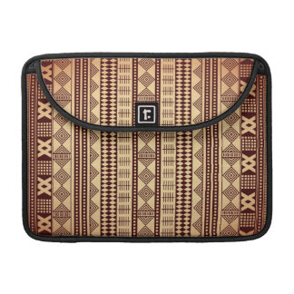 Brown ethnic texture sleeve for MacBooks