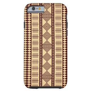 Brown ethnic texture tough iPhone 6 case