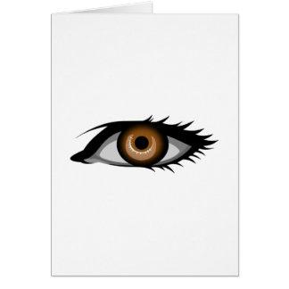 Brown Eye Card
