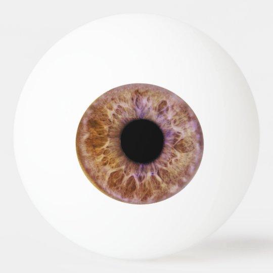 Brown eye ping pong ball