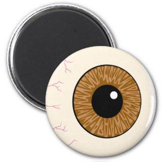 brown eyeball fridge magnets
