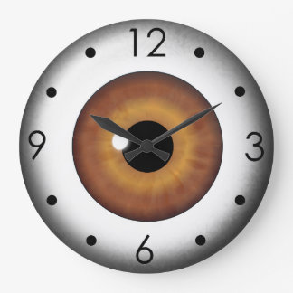Brown Eyeball Iris Eye Custom Large Round Clock