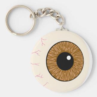 brown eyeball keychains