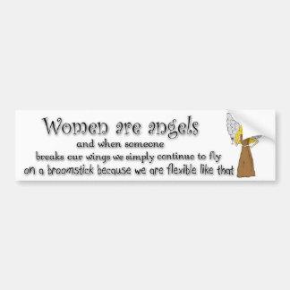 Brown Eyed Blonde Women Are Angels Bumper Sticker