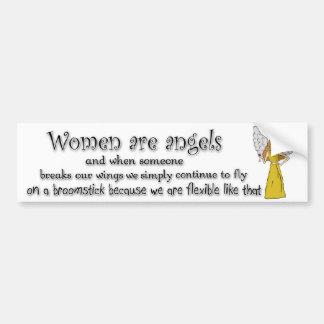 Brown Eyed Brunette Women Are Angels Bumper Sticker