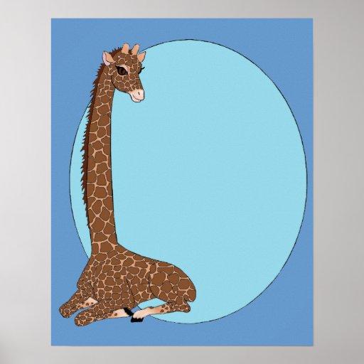 Brown Eyed giraffe Posters