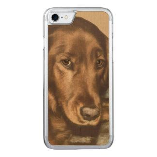 Brown Eyed Golden Irish Dog Carved iPhone 8/7 Case