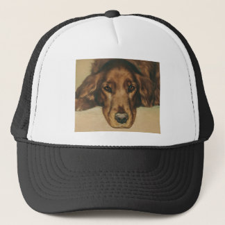 Brown Eyed Golden Irish Dog Trucker Hat