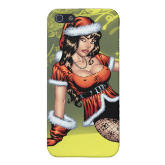Brown Eyed Ms Claus Christmas Pinup Girl by Al Rio iPhone 5/5S Cover