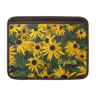 Brown Eyed Susans and Your Name Sleeve For MacBook Air
