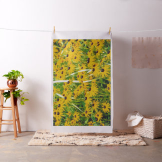 """Brown-Eyed Susans"" Design on Fabric"
