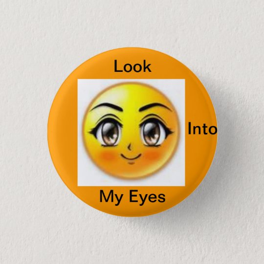 brown eyes 3 cm round badge