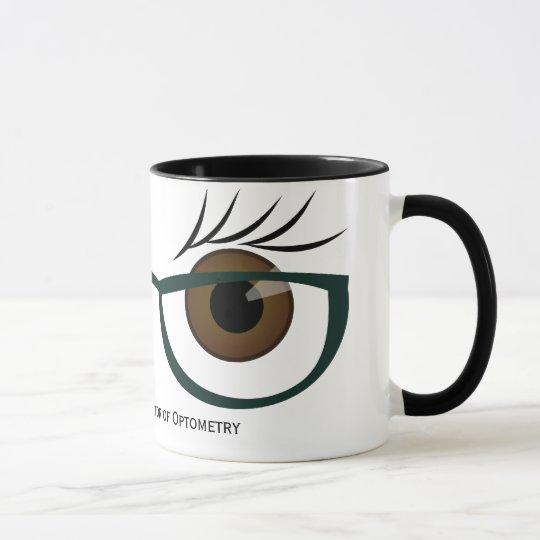 Brown Eyes and Glasses Mug