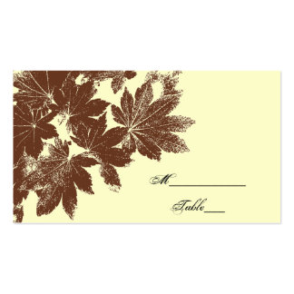 Brown Fall Leaf Stamp Wedding Place Card Pack Of Standard Business Cards