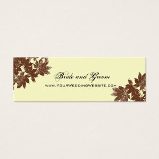 Brown Fall Leaf Stamp Wedding Website Card