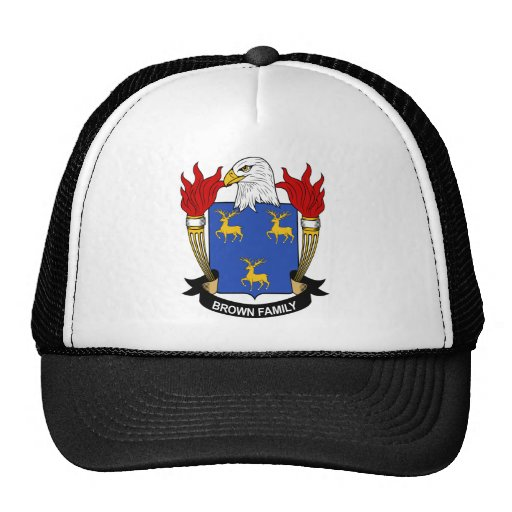 Brown Family Coat of Arms Hat