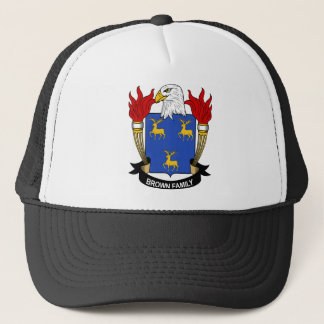 Brown Family Coat of Arms Trucker Hat
