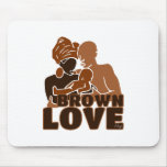 BROWN FAMILY SOLID MOUSE PAD