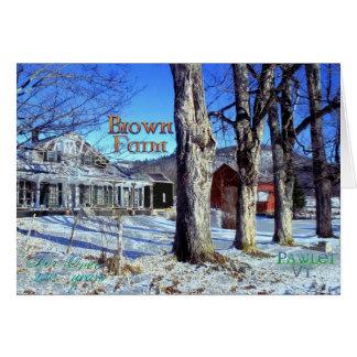 Brown Farm # 5 Card