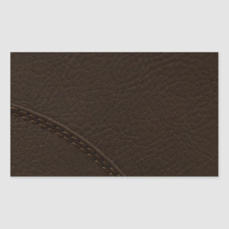 Brown Faux Leather Upholstery Rectangular Sticker