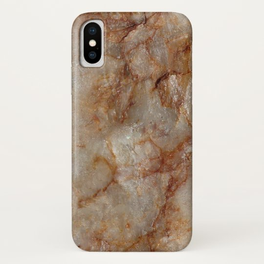 Brown Faux Marble Stone Background iPhone X Case