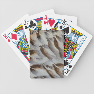 Brown Feather Abstract Bicycle Playing Cards