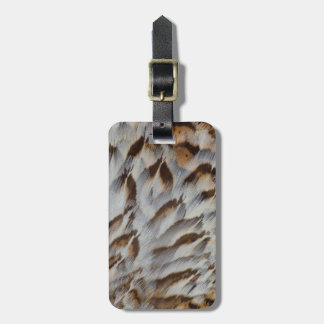 Brown Feather Abstract Luggage Tag