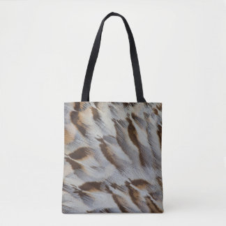 Brown Feather Abstract Tote Bag