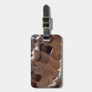 Brown Feather Design Luggage Tag
