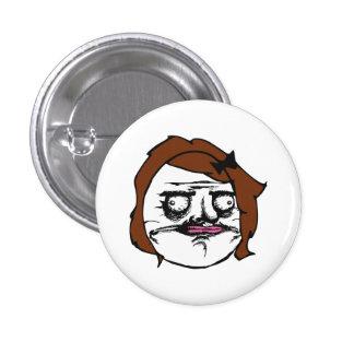 Brown Female Me Gusta Comic Rage Face Meme 3 Cm Round Badge
