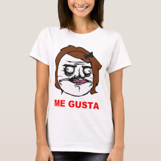Brown Female Me Gusta Comic Rage Face Meme T-Shirt