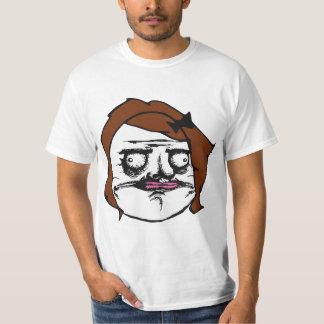 Brown Female Me Gusta Comic Rage Face Meme T-shirt