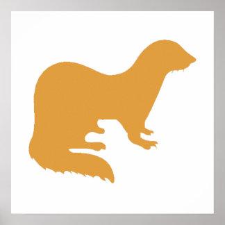 Brown Ferret Poster