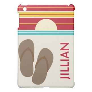Brown Flip Flops & 70s Inspired Sunset  iPad Mini Cases