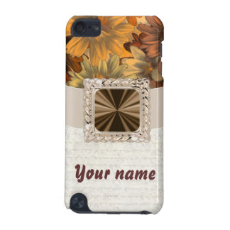 Brown floral customizable iPod touch 5G cover
