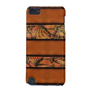 Brown Floral Leather iPod Touch (5th Generation) Cover
