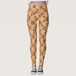 brown floral legging
