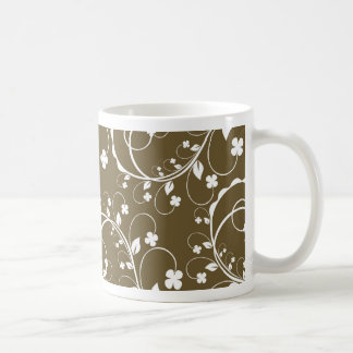 brown floral mugs
