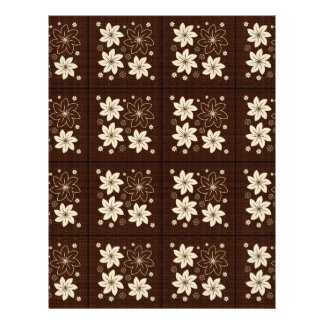 Brown floral pattern 21.5 cm x 28 cm flyer
