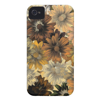 Brown floral pattern Case-Mate iPhone 4 case