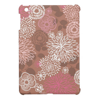 Brown Floral Pattern Cover For The iPad Mini