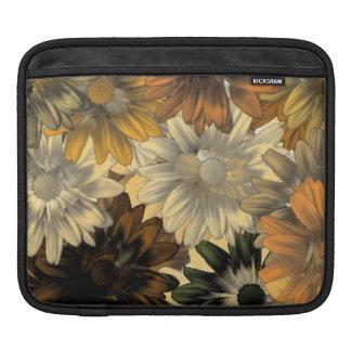 Brown floral pattern iPad sleeve